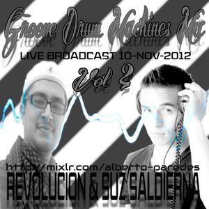 rEVOLUCION & SUZ SALDIERNA - Groove Drum Machines vol. 2 (recorded live 10-11-12)