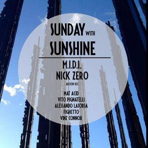 M.I.D.I. & Nick Zero @ SUNday with SUNshine    TEADANCE 21/10/2012