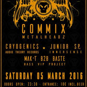 Junior SP. b2b Cryogenics - Warm Up Set for Commix - Innersense Athens - 05 March 2016