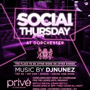 Social Thursday Mix (prive dorchester)