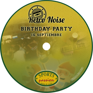 Sports Passion - Retro Noise Birthday Party