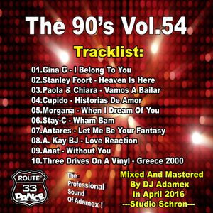 DJ Adamex - Dance Route 33 Megamix The 90's Vol.54