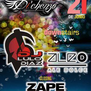 ZAPE @ DICHENZO RAMOS MEJIA LIVE SET 21-06-13