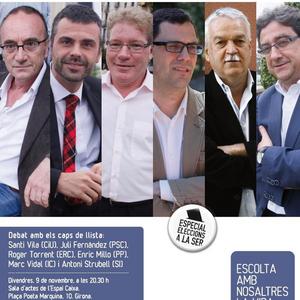 Debat electoral 25N Girona de la Cadena SER i el Diari de Girona