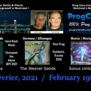 Mad Wet Sea / The Weever Sands & Sonus Umbra on/sur Prog Core Live.