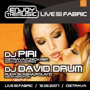 DJ Piri vs. DJ David Drum - Live At Fabric (2007-06-15) (Enjoy The Music Set)