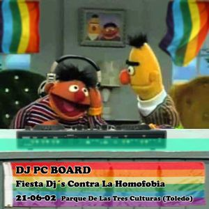 DJ PC Board - Dj's contra la homofobia (21-06-2002) Toledo (Spain)