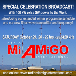 Special Event Show  - aired with 100 kW announcing our new frequency: 6085 kHz - 29-10-2016
