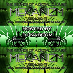 "Kaboom's LIVE DnB set on MEKANIZM (""MEKANIZM"" Tuesday nights 8-11pm on radiofrequencyonline.com)"