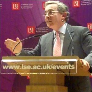 Álvaro Uribe Vélez @ LSE : The three pillars of Colombia's recent progress