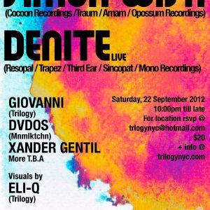 Denite Live @ Trilogy, 22-SEP-2012, New York.