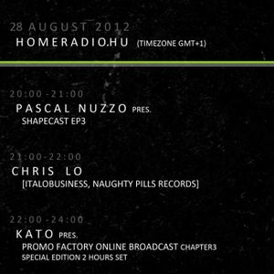 Kato Promo-Factory 4hours Radio Broadcast 21-22h (GMT+1) Special Guest: Chris Lo (Italo Business)