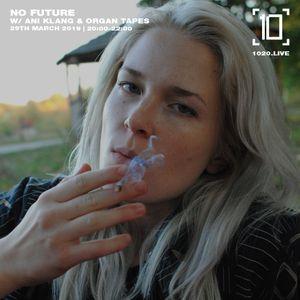 No Future w/ Organ Tapes & Ani Klang - 29th March 2019