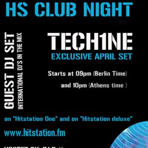 Tech1ne-April Set On HS CLUB NIGHT Radio Show