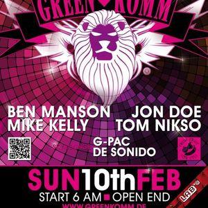 2013 Mike Kelly live at Greenkomm Karneval pt1