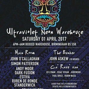 Part 1 John Askew Live @ Trancecoda - Ultraviolet @ Boxxed Warehouse, Birmingham UK 01-04-2017