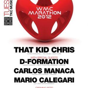 Carlos Manaça - Live @ WMC TKC Music Marathon, Discoteka Club, Miami, E.U.A.(20.03.2012)