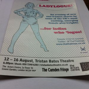 P & R special w/ Maddy Moore as Guest DJ & interview re 'Ladylogue' at Tristan Bates Theatre
