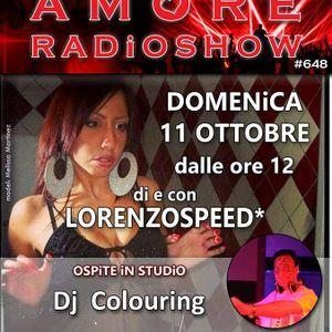 LORENZOSPEED presents AMORE Radio Show 648 Domenica 11 Ottobre 2015 with iSABEL PiSTORE COLOURiNG p2