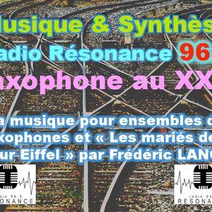 """Musique & Synthèse Le Saxophone au XX°S """"Les Mariés de la Tour Eiffel"""""""