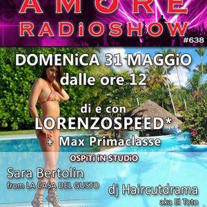LORENZOSPEED presents AMORE Radio Show Domenica 31 Maggio 2015 with SARA BERTOLiN EL TOTO MAX part 1