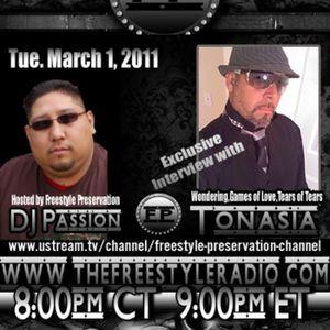 Tonasia Live Interview with DJ Passion