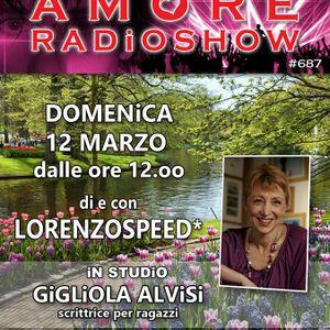 LORENZOSPEED presents AMORE Radio Show 687 Domenica 12 Marzo 2017 with GiGLiOLA ALViSi