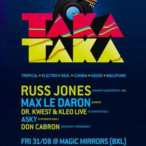 Max le Daron Dj Set at Taka Taka - 31.08.2012 - Magic Mirrors Brussels