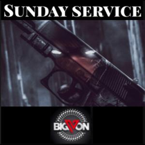"Sunday Service "" HOOD STAYS STRAPPED "" m22a"