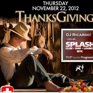DJ Ricardo! Live at Splash NYC Thanksgiving 2012: Pop meets Progressive