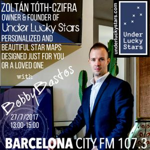 Zoltan Tóth-Czifra, owner and founder of Under Lucky Stars with Bobby Bastos