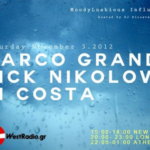 MoodyLushious Influences Episode 19 (November 2012 Edition) (Exclusive Guest Mix By Marco Grandi)