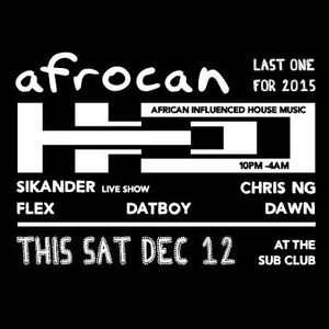 Sikander live at Afrocan 12 Dec 15