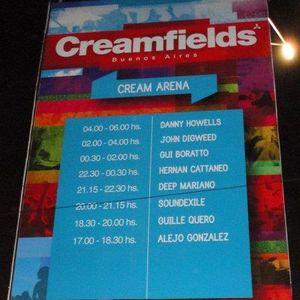Alejo Gonzalez live @ Cream Arena - Creamfields 2011 Buenos Aires