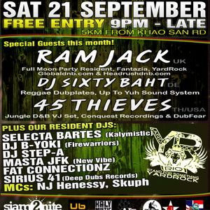HexThree Live Dub Session @ IRIE BEATZ September 21 2013 Dub Reggae Mix BKK