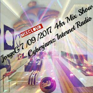 7/09/2017 Curious Jorge G Show 4hr Mix-set via Cyberjamz Internet Radio