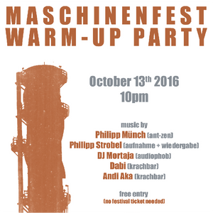 Maschinenfest 2k16 Warm-Up Party, Oberhausen, Cosmo Club