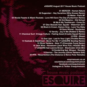 Esquire house music podcast august 2017 07 31 for House music podcast