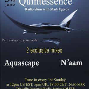 Mark Egorov - Quintessence Radio Show # 005 (Guests Aquascape & N'aam)