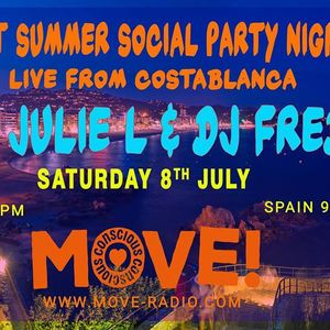 """Julie L and DJ Fred """"Summer Social"""" from Alicante - July 8th 2017"""
