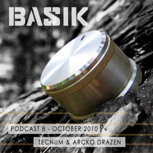 BASIK Podcast 8 - Dj Tecnum (October 2010)