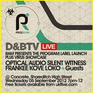 Program Label Launch & Virus Showcase - 01 - Frankee (Program) @ Concrete Space - London (06.09.12)