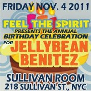 FEEL THE SPIRIT November 4, 2011 Jellybean Benitez Live