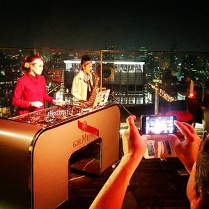 Small Circle Liquid DnB LIVE at CRU bar BKK (Live DJ X MP Saxophone)