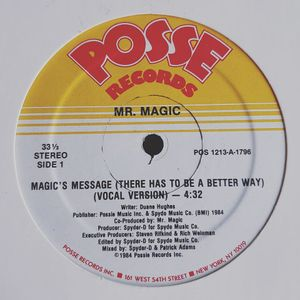 "Dr. J Presents... ""Rap Recipes"" Volume 7 (Spyder D - The Making of ""Magic's Message"": 1984)"