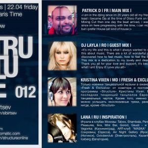 Structure Radio Show 012 (2Capitales Radio, Paris) fresh'n'exclusive by Kristina Vixen (22.04.2011)