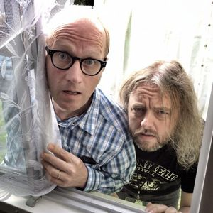 In a Net Curtained Portacabin with the Bad Shepherds