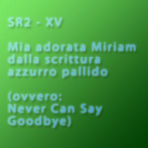 SR 2 - Mia adorata Miriam dalla scrittura azzurro pallido