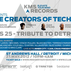 Ben Sims - Live At KMS 25 Tribute To Detroit St. Andrews Hall Detroit - 27-05-2012