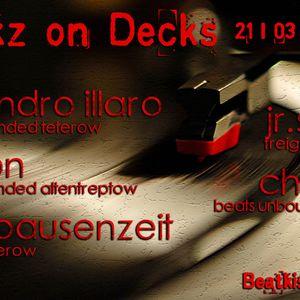 Jr. Senior@Freakz on Decks-Beatkiste 21.03.2014